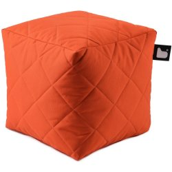 Extreme lounging B Box Quilted Poef Oranje