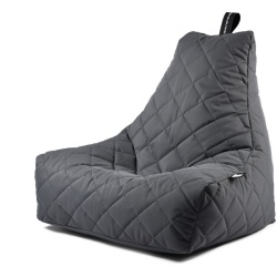 Extreme Lounging B Bag Mighty B Zitzak Quilted Grijs