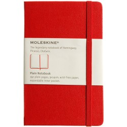 Moleskine Classic Notitieboek Hard cover Rood Pocket Blanco