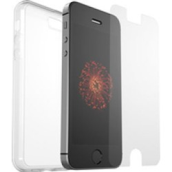 OtterBox Clearly protected Clear Skin backcover Alpha Glass screenprotector voor Apple Iphone 5 5s SE Transparant