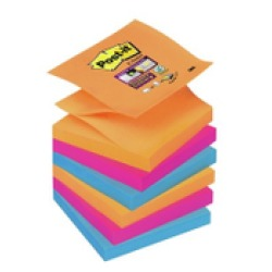 Post it Super Sticky Z Notes Bangkok ft 76 x 76 mm geassorteerde kleuren 90 vel pak van 6 blokken