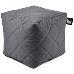 Extreme lounging B Box Quilted Poef Grijs