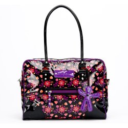 Little Company Today Glossy Bag Luiertas Zwart Paars