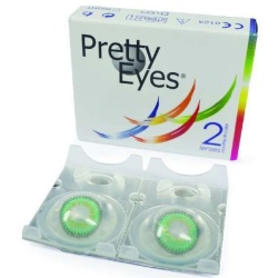 Pretty Eyes Maandlenzen Groen 2st