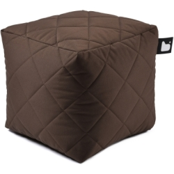 Extreme lounging B Box Quilted Poef Bruin