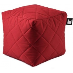 Extreme lounging B Box Quilted Poef Rood