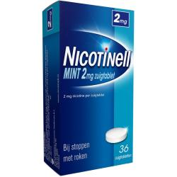 Nicotinell Zuigtabletten Mint 2mg 36st