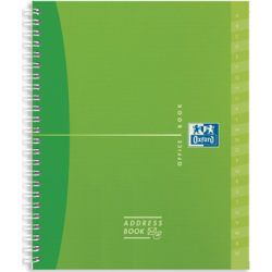 Oxford OFFICE MyColour addressbook 160 bladzijden ft 12 x 14 8 cm