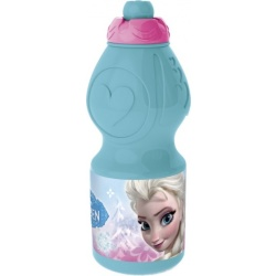 Disney Frozen Floral drinkfles 400 ml lichtblauw roze