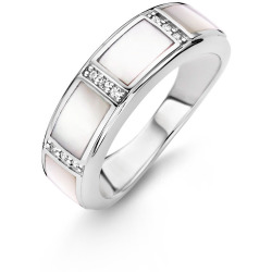TI SENTO Milano Ring 12023MW Maat 54 (17 25 mm) Gerhodineerd Sterling Zilver
