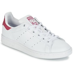 adidas originals Stan Smith J leren sneakers wit fuchsia