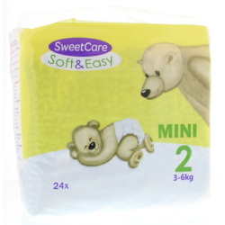 Sweetcare Luiers Soft Easy Mini Nr 2 3 6kg (24st)