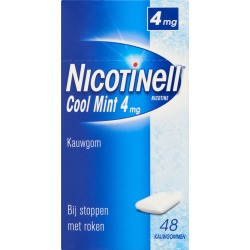 Nicotinell Kauwgom Cool Mint 4 Mg (48st)