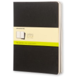 Moleskine Cahier Notitieboek Soft Cover XL Zwart Blanco Set van 3