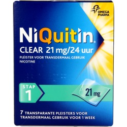 Niquitin Stap Clear 21 Mg 24 Uur (7st)