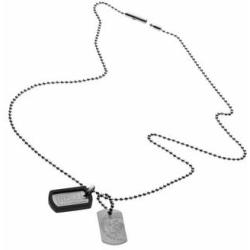Diesel heren collier Double Dog Tag DX0202040