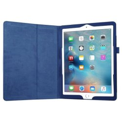 iPad 9.7 (2017 2018) book case hoes blauw