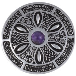 Celtic Wheel Broche met Amethyst steen