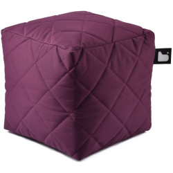 Extreme lounging B Box Quilted Poef Paars